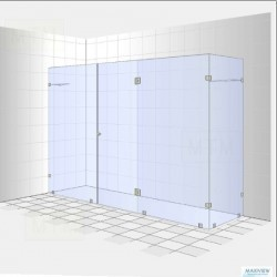 3D Frameless Shower Designed By Maxiview